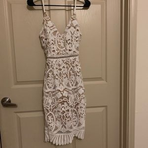 Fashionnova lace midi dress